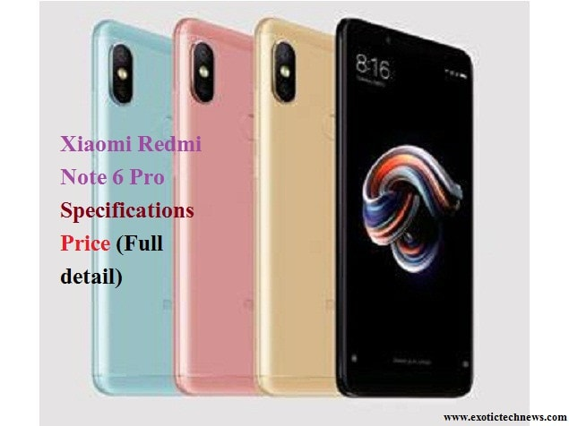 Xiaomi Redmi Note 6 Pro | Specifications | Price (Full detail)